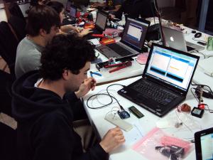 Arduino printing sensor data to a character display