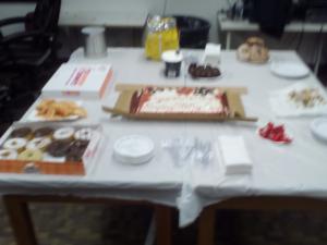 The table of tasty treats.